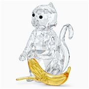 Swarovski - Rare Encounters Monkey with Banana Figurine