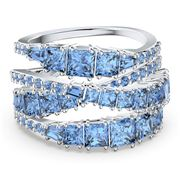 Swarovski - Twist Wrap Blue Rhodium Plated Ring