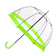 Clifton - Birdcage Umbrella with Fluro Green Border
