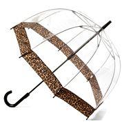 Clifton - Birdcage Umbrella with Cheetah Print Border