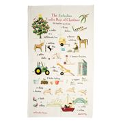 Rodriquez - Red Tractor 12 Days of Christmas Tea Towel