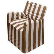 Rans - Alfresco Chocolate Stripes Director's Chair Cover