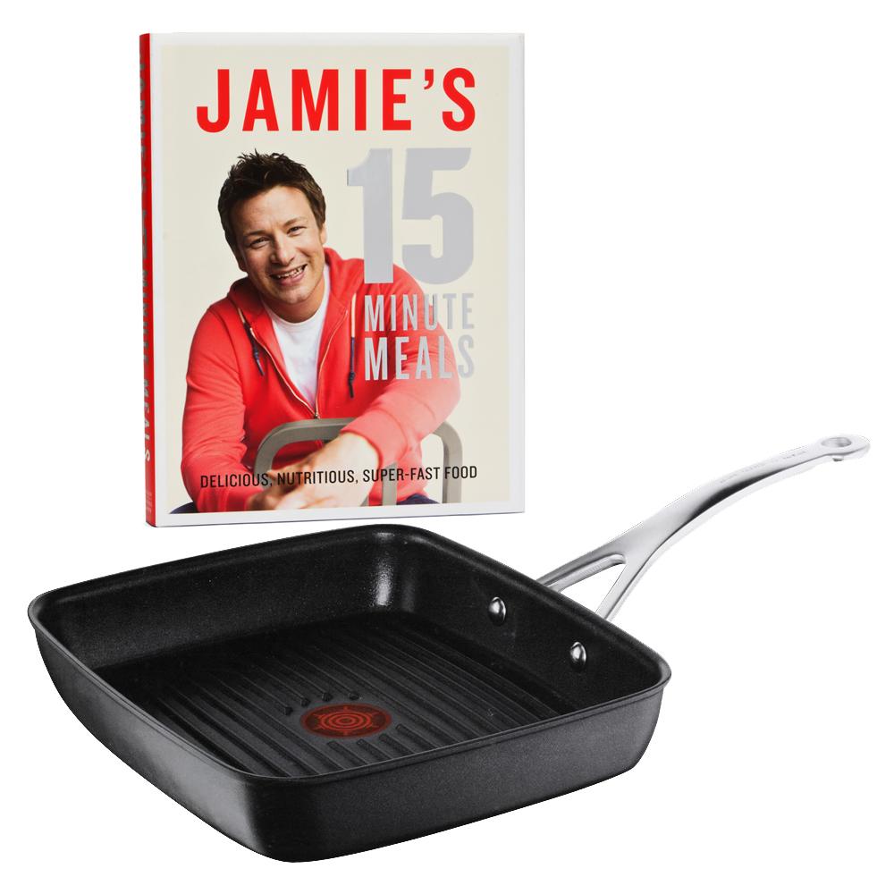 tefal jamie oliver anodised induction grill cookbook. Black Bedroom Furniture Sets. Home Design Ideas
