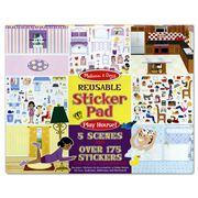 Melissa & Doug - Play House Reusable Sticker Pad
