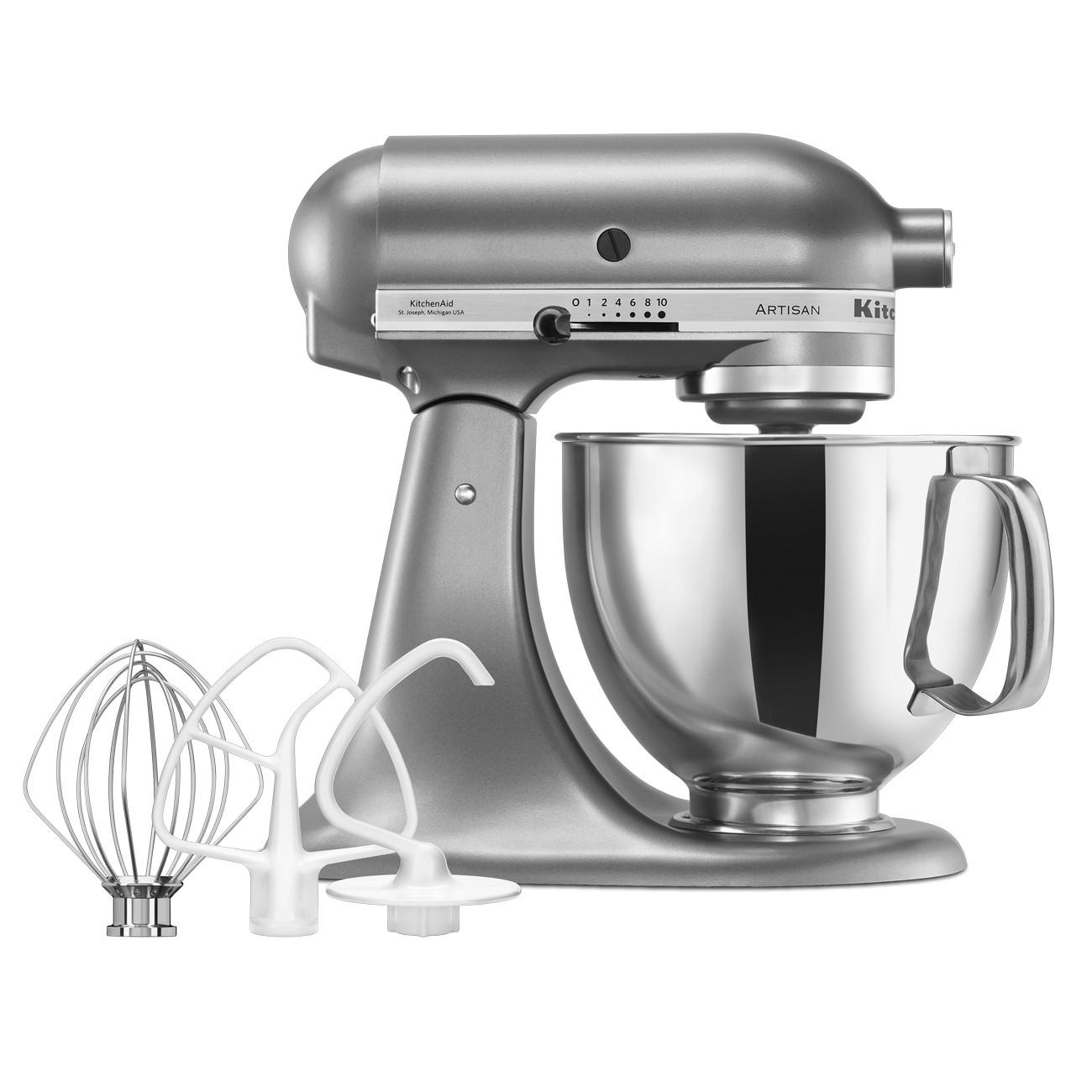 Kitchenaid artisan ksm150 contour silver mixer peter 39 s of kensington - Kitchen aid artisan accessories ...