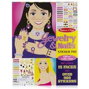 Melissa & Doug - Glitter Jewellery & Nails Sticker Pad