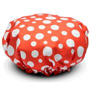 Annabel Trends - Lollie Dot Coral Shower Cap