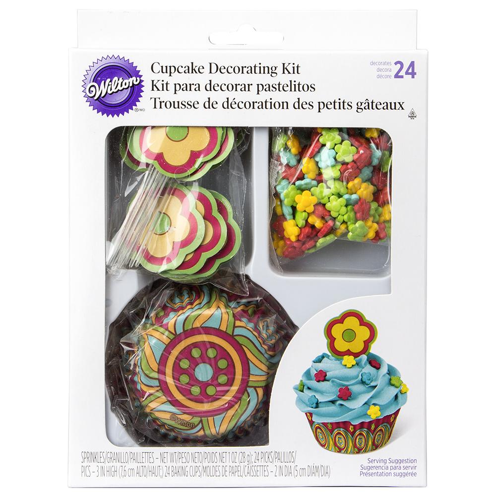 Wilton Flower And Cake Design Kit : Wilton - Flower Cupcake Decoration Kit
