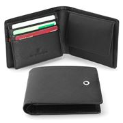 Faber Castell - Black Saffiano Wallet With Flap