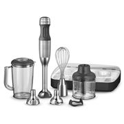 KitchenAid - Deluxe Hand Blender Silver