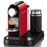 Breville - Nespresso CitiZ & Milk Red Coffee Machine