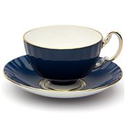 Aynsley - Cottage Garden Oban Teacup & Saucer Blue