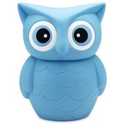 AT - Big Fat Aqua Owl Piggy Bank