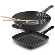 Scanpan - Classic Wok & Square Grill Cookware Set 2pce