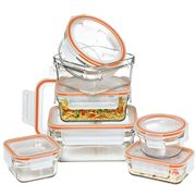 Glasslock - Tempered Rimless Glass Food Container Set 7pce
