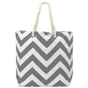 Annabel Trends - AT Travel Chevron Tote Bag Grey