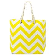Annabel Trends - AT Travel Chevron Tote Bag Yellow