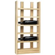 Traditional Wine Rack Co - Scallop Six-Bottle Wine Rack