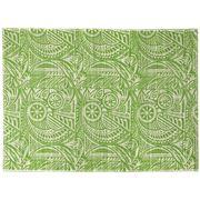Bullseye - Aztec Print Green Floor Mat