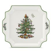Spode - Christmas Tree Square Platter with Handles