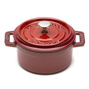 Staub - Cherry Red Mini Round Cocotte 10cm/250ml