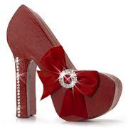 Boz Christmas - Diamante Stiletto Red Chocolate Box