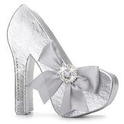 Boz Christmas - Diamante Stiletto Silver Chocolate Box