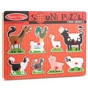 Melissa & Doug - Farm Animals Sound Puzzle 8pce
