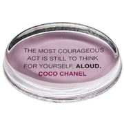 Ben's Studio - Coco Chanel 'Courageous Act' Paperweight