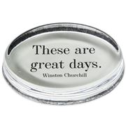 Ben's Studio - Winston Churchill 'Great Days' Paperweight