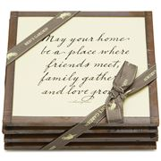 Ben's Studio - 'May Your Home' Coaster Set 4pce