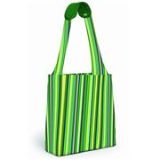 Built NY - Reusable Shopping Tote Emerald Stripe