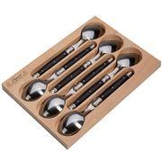 Laguiole - Debutante Black Dessert Spoon Set 6pce
