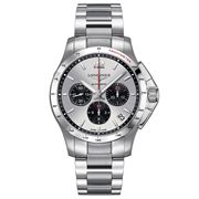 Longines - Conquest Silver & Blk Dial S/Steel Chronograph