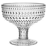 iittala - Kastehelmi Footed Bowl Clear