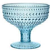 iittala - Kastehelmi Light Blue Footed Bowl