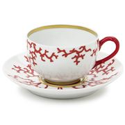 Raynaud Limoges - Cristobal Rouge Teacup & Saucer Set