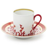 Raynaud Limoges - Cristobal Rouge Coffee Cup & Saucer