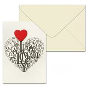Short Story - Love Heart Greeting Card