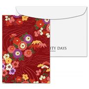 Eighty Days - Winter Floral Fabric Greeting Card