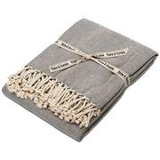 Raine & Humble - Herringbone Weave Charcoal Throw