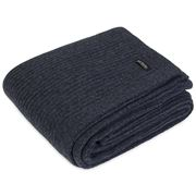 Bemboka - Merino Wool Chain Rib Denim Throw Rug