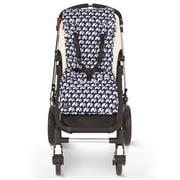 Travel Comfy - Blue Elephants Cotton Pram Liner