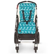 Travel Comfy - Teal Giraffes Cotton Pram Liner