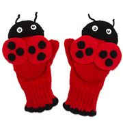 Kidorable - Ladybug Knit Mittens