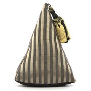 ART - Pyramid Doorstop Silver Stripe