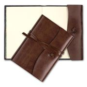Montepelle - Murano Cognac Leather Journal 9x13cm