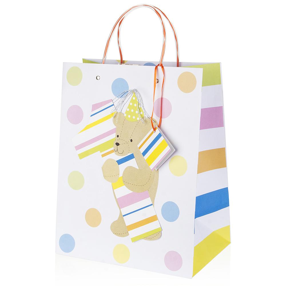 1st Birthday Bear Gift Bag