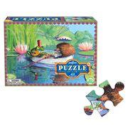 eeBoo - Boat Ride Jigsaw Puzzle 42pce