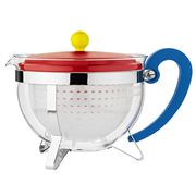 Bodum - 70 Years Chambord Teapot Red & Yellow
